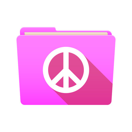 pacifist: Isolated file folder icon with a peace sign