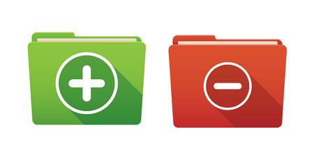 math set: Isolated file folder icon set with math signs Illustration