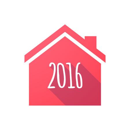 2016 기호 빨간 집 아이콘의 그림 일러스트