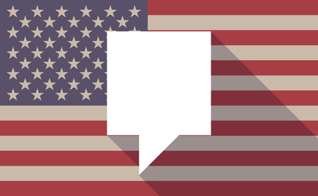 tip style design: Illustration of an USA flag icon with a tooltip