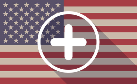 cross bar: Illustration of an USA flag icon with a sum sign