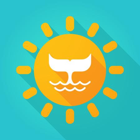 the tail: Ilustraci�n de un icono del sol con una cola de ballena