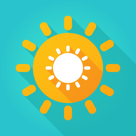Illustration of a sun icon with a sun  イラスト・ベクター素材