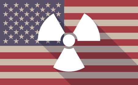 radio activity: Illustration of an USA flag icon with a radio activity Illustration