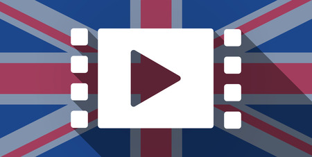 Illustration of an UK flag icon with a multimedia sign Vector