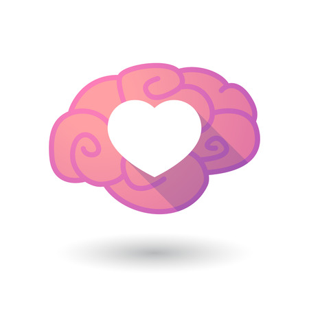 seduce: Illustration of a pink brain with a heart