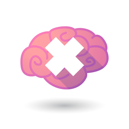 alerting: Illustration of a pink brain with an irritating substance sign