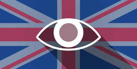 kingdom of god: Illustration of an UK flag icon with an eye Illustration