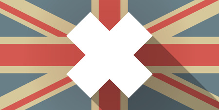 alerting: Illustration of a UK flag icon with an irritating substance sign Illustration