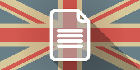 Illustration of a UK flag icon with a document Vector