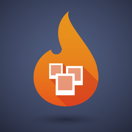 hot frame: Illustration of a flame icon with photos