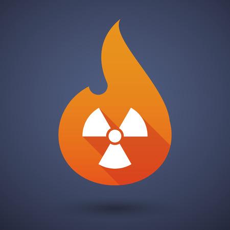 radio activity: Illustration of a flame icon with a radio activity sign Illustration