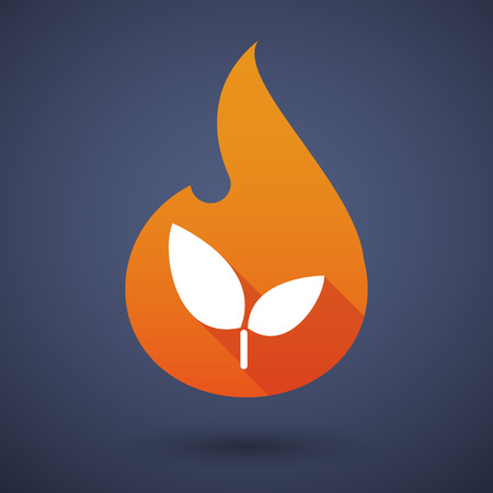 growth hot: Illustration of a flame icon with a plant