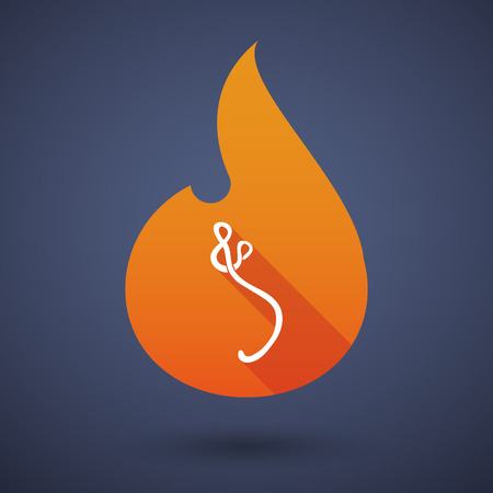 ebola: Illustration of a flame icon with an ebola sign