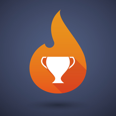 fire flame: Illustration of a flame icon with an award cup Illustration