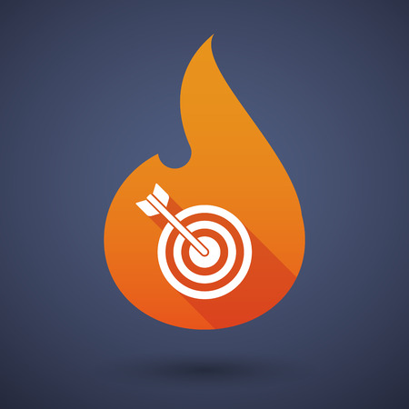 flame: Illustration of a flame icon with a dart board