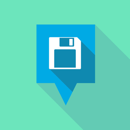 tooltip: Illustration of a tooltip icon with a floppy Illustration