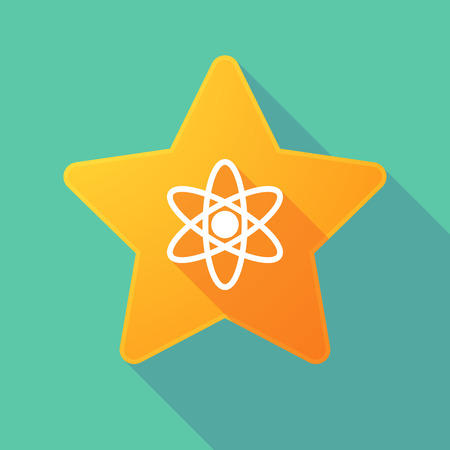energy ranking: Illustration of a long shadow star with an atom Illustration