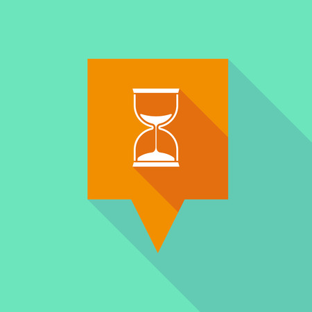 Illustration of a tooltip icon with a sand clock Vector
