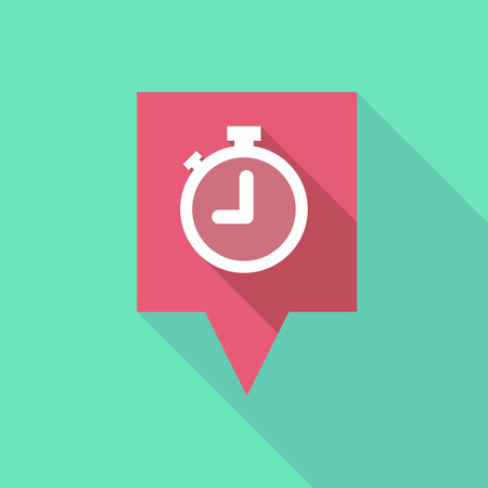 Illustration of a tooltip icon with a timer Vector