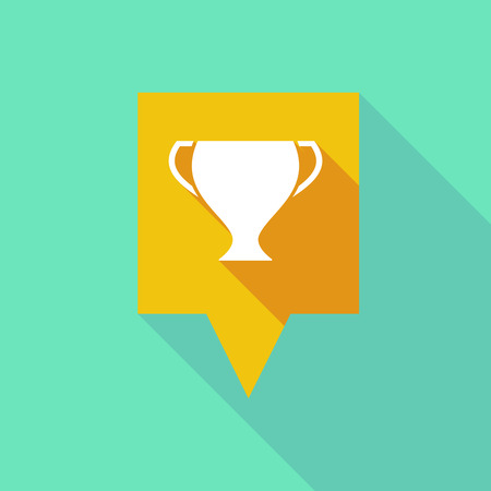 award winning: Illustration of a tooltip icon with an award cup