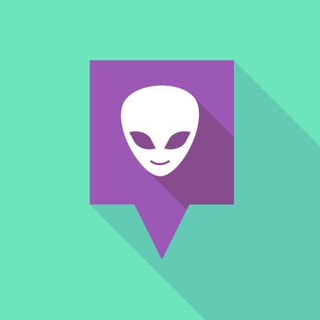 alien face: Illustration of a tooltip icon with an alien face