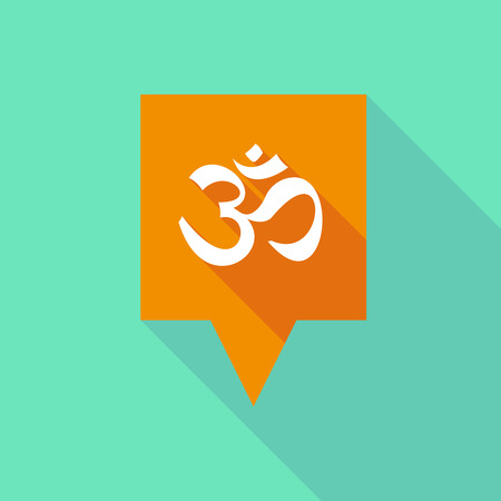 om sign: Illustration of a tooltip icon with an om sign