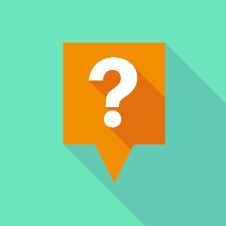 question concept: Illustration of a tooltip icon with a question sign Illustration
