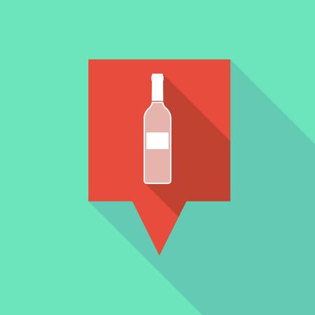 alcohol drinks: Illustration of a tooltip icon with a bottle