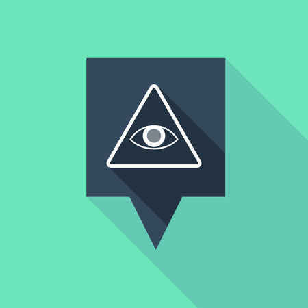 all seeing eye: Illustration of a tooltip icon with an all seeing eye