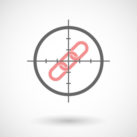 cross linked: Illustration of a crosshair icon targeting a chain
