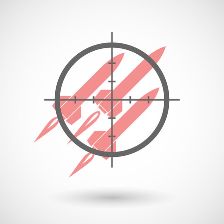 missiles: Illustration of a crosshair icon targeting missiles