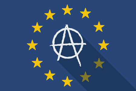 anarchy: Illustration of an European Union with an anarchy sign