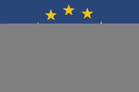 high society: Illustration of an European Union long shadow flag with a lightning