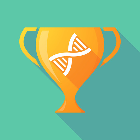 transgenic: Illustration of a trophy icon with a DNA sign Illustration