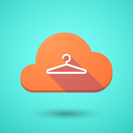 Illustration of a cloud icon with a hanger