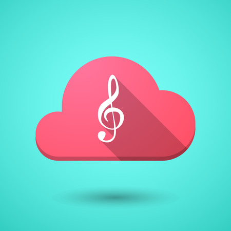 g clef: Illustration of a cloud icon with a g clef