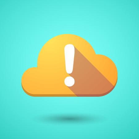 fascinação: Ilustração de um ícone da nuvem com um sinal de admiração Ilustração