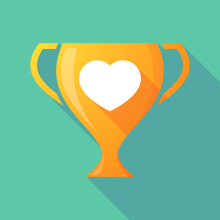 winning proposal: Illustration of a trophy icon with a heart Illustration