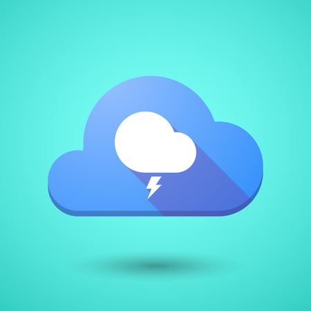 stormy: Illustration of a cloud icon with a stormy cloud Illustration
