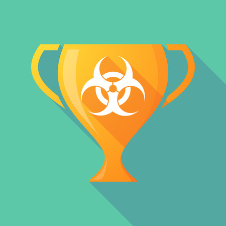 biological hazard: Illustration of a trophy icon with a biohazard sign