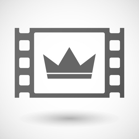 35mm: Illustration of a 35mm film frame with a crown