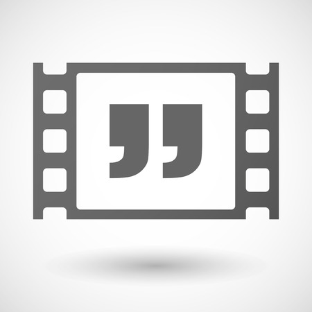 35mm: Illustration of a 35mm film frame with a quotes Illustration