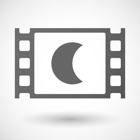 35mm: Illustration of a 35mm film frame with a moon