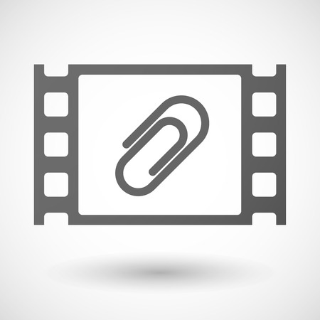 35mm: Illustration of a 35mm film frame with a clip Illustration