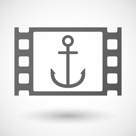 nautic: Illustration of a 35mm film frame with an anchor