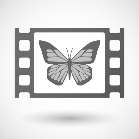 35mm: Illustration of a 35mm film frame with a butterfly