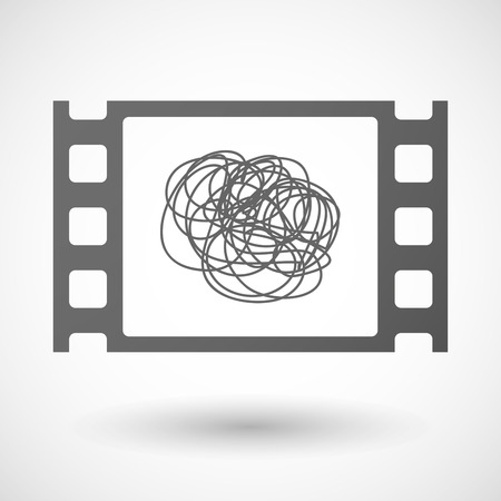 documentary: Illustration of a 35mm film frame with a doodle Illustration