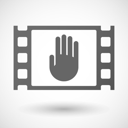 35mm: Illustration of a 35mm film frame with a hand