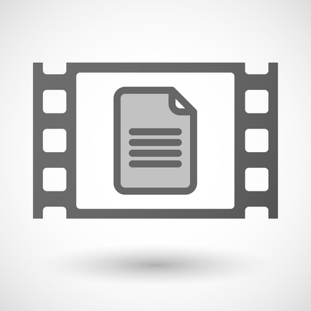 35mm: Illustration of a 35mm film frame with a document Illustration